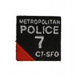 Metropolitan Police CT-SFO Squad 7 Patch (Black)