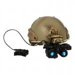 Airframe Ballistic Helmet with AN/PSQ-36 FGS NVG (Snake Skin)