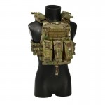 AVS Plate Carrier with 5,56mm Triple Magazines Pouch (Multicam)