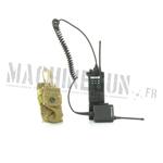 Radio saber avec micro à main et pochette