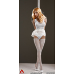 Set vêtements sexy de Pole Dance Femme (Blanc)