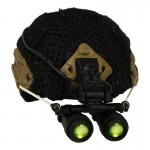 Fast Helmet with AN/AVS-9 NVG (Black)