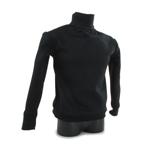 T-shirt col roulé (Noir)