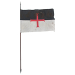 Templar Knight Banner Flag (Black)