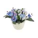 Pot fleurit (Bleu)