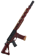 Fusil d'assaut AR 15 custom (Rouge)