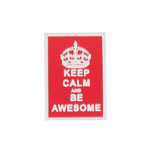 Calm And Be Awesome Patch (Red)
