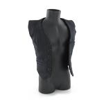 Gilet de costume rayé Homme (Noir)