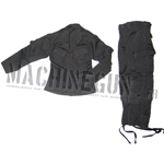 BDU uniform noir veste + pantalon