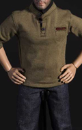 Man's Vertical T-Shirt and Jeans Uniform Set - Spring & Fall (Type A)