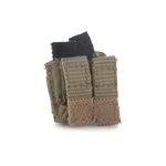 Handgun Double Magazine Pouch with Kydex (Coyote)