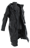 Battle Damaged leather coat (Black)