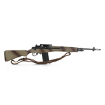 M14 rifle with M1907 leather sling