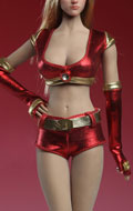 Set tenue de Cheerleader Femme (Rouge)