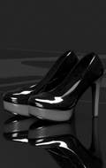Women's Two Colors High Heel Shoes (Black)