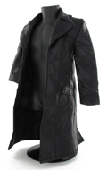 Black leather like coat