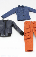 Multi-pocket pants suit jacket