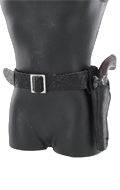 Cowboy pistol and holster set (Black)