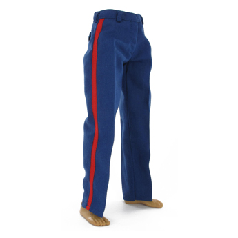 Dress Blues Trousers with Blood Stripes