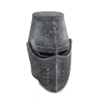 Die Cast Templar Helmet with Movable Visor (Black)