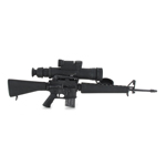 M16 A1 Assault Rifle with Three Prong Flash Hider (Black)