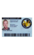 Jack Bauer plastic ID Card