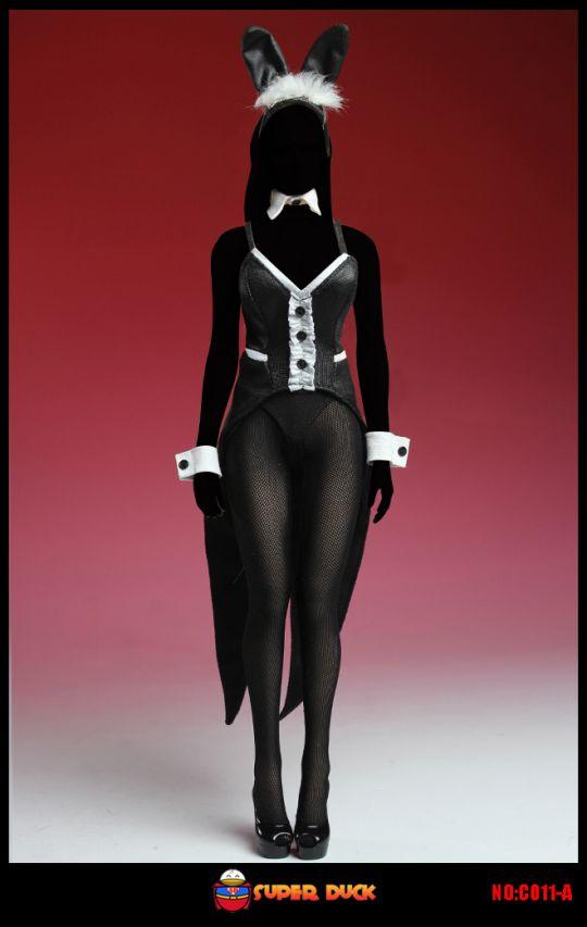 set tenue de lapin sexy femme noir machinegun. Black Bedroom Furniture Sets. Home Design Ideas