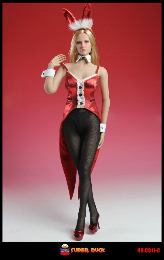 set tenue de lapin sexy femme rouge machinegun. Black Bedroom Furniture Sets. Home Design Ideas