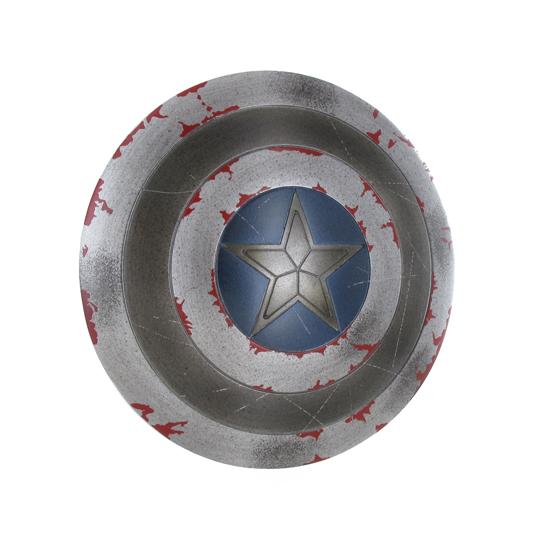 bouclier battle damaged du captain america gris machinegun. Black Bedroom Furniture Sets. Home Design Ideas