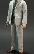 Uptown Suit (Light Grey) Male Outfit Set