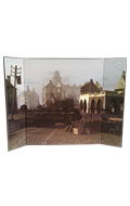 WWII Battlefield Diorama Background (Brown)