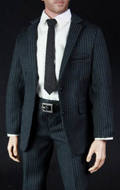 Mens Select Suits Set B (Slate Gray and Stripes)