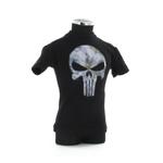 T-shirt col rond noir avec impression tête de mort