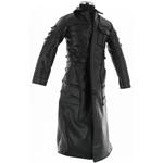 Long manteau façon cuir noir