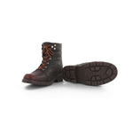 Chaussures montantes marron type bûcheron