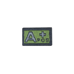 A Positif Blood Group Patch (Olive Drab)