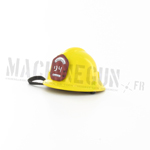 Firefighter yellow Bullard helmet