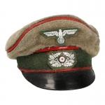 Artillery Schirmütze Cap (Feldgrau)