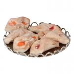 Chaussons aux abricots avec plateau en métal (Beige)