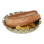 Hot Dog with Chips and Diecast Plate (Beige)
