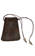 Worn Leather Coin Pouch (Brown)