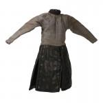 Veste de Chevalier avec jupe en cuir taille adolescent (Gris)