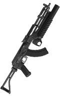 AK47 Assault Rifle with M203 Grenade Launcher (Grey)