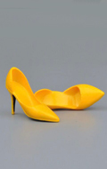 Female Heeled Shoes (Yellow)