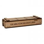 Wooden 105mm Shell Ammo Box (Beige)