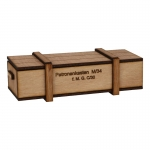 Wooden 2cm Cartridges Ammo Box (Beige)