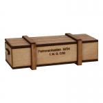 Caisse à munitions cartouches 2cm en bois (Beige)