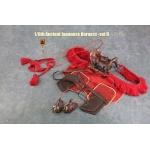 Set harnais pour cheval (Rouge)