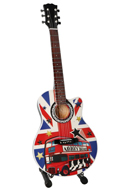 The Beatles Tribute Abbey Road Guitar (Blue)