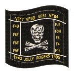 Patch 1943 Jolly Rogers 1995 (Noir)